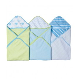 3pcs Carters Hooded Towel Blue