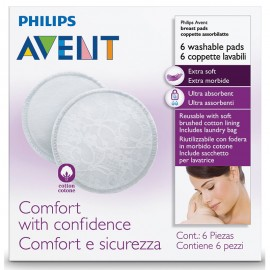 Avent 6pcs Washable Breast...